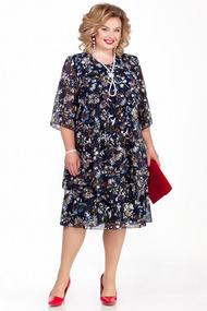 Платье Pretty 242-3 синие тона