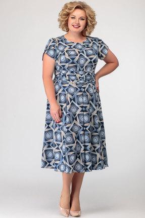 Платье SWALLOW 266 синие тона
