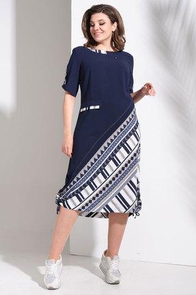 Платье Avanti Erika 0952-1 синий с бежевым фото
