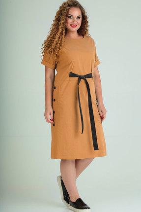 Платье Elga 01-666 горчица фото