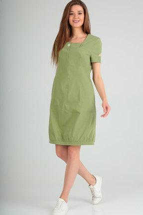 Платье Elga 01-665 салатовый фото