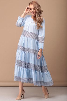 Платье Flovia 4027 голубой фото