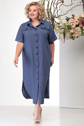 Платье Michel Chic 2001 светло синий