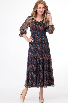 Платье СлавияЭлит 467 тёмно-синий фото