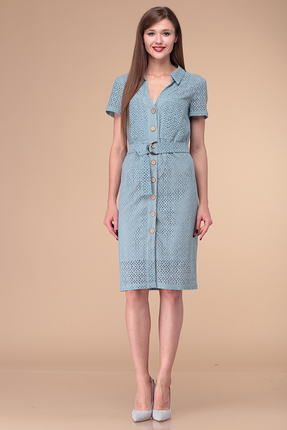 Платье Verita Moda 1198 голубой фото