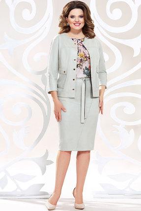 Комплект юбочный Mira Fashion 4783-4 светло-серые тона фото