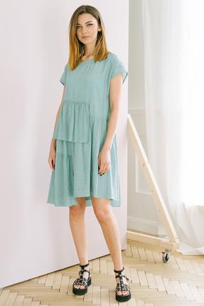 Платье Фантазия Мод 3715 бирюзовые тона фото