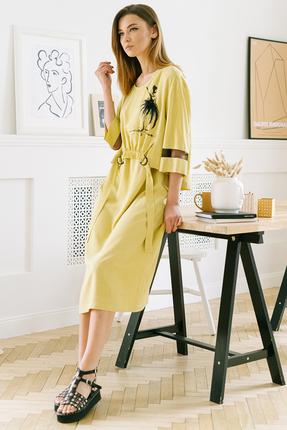 Комплект плательный Фантазия Мод 3703 желтый фото