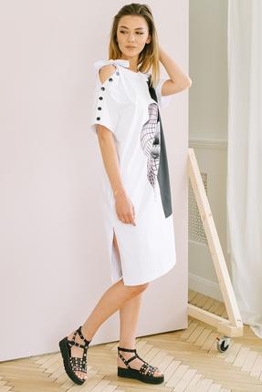 Платье Фантазия Мод 3682 белый фото
