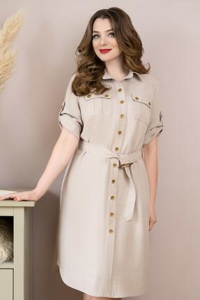 Платье ЮРС 20-359-2 бежевые тона