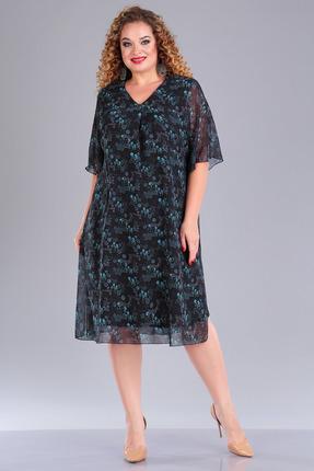 Платье FoxyFox 211 черно-бирюзовый