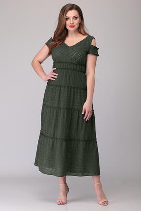 Платье Verita Moda 1199.1 зеленые тона фото