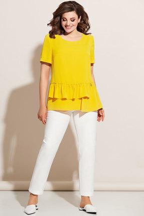 Комплект брючный Olga Style с672 желтый фото