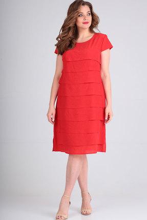 Платье Ришелье 717 красный