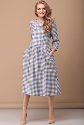 Платье Flovia 4031 серо-голубой