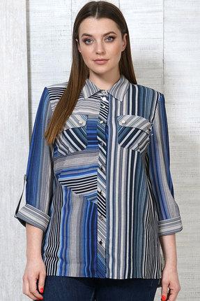 Блузка Белтрикотаж 4530 серый с синим фото