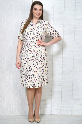 Платье Белтрикотаж 4997 молочный фото