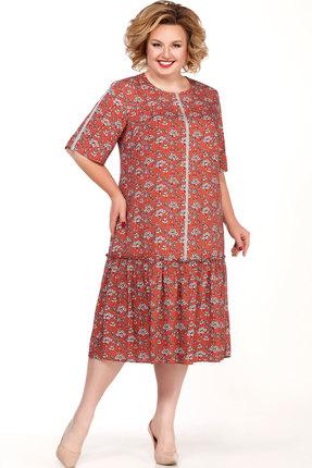 Платье Emilia Style А-542/3 терракотовый