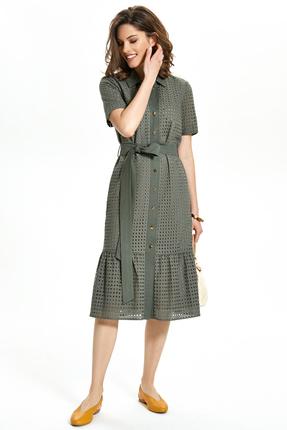 Платье TEZA 1351 хаки фото