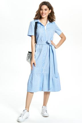 Платье TEZA 1351 голубой фото