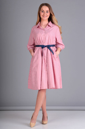 Платье Таир-Гранд 6545 розовые тона