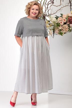 Платье Michel Chic 2006 серые тона фото