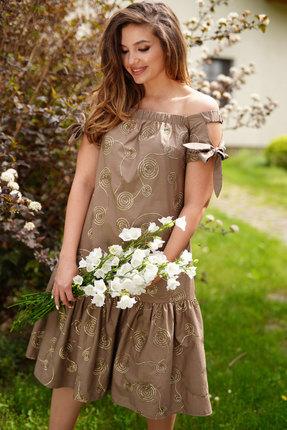 Платье ЛЮШе 2378 капучино