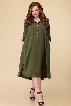 Платье Дали 5392 зеленый фото