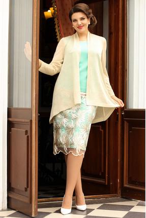 Комплект юбочный Мода-Юрс 2566 золото+мята фото