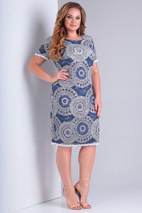 Платье Ollsy 01425 синие тона