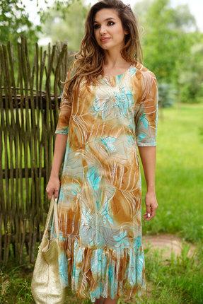 Платье ЛЮШе 2405 мятный с бежевым фото