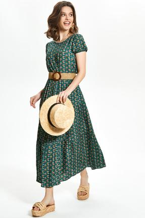 Платье TEZA 1359 зеленые тона фото
