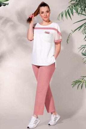 Комплект брючный БагираАнТа 625-1 розовый фото