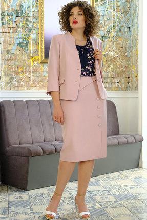 Комплект юбочный Erika Style 1023 розовый с синим фото