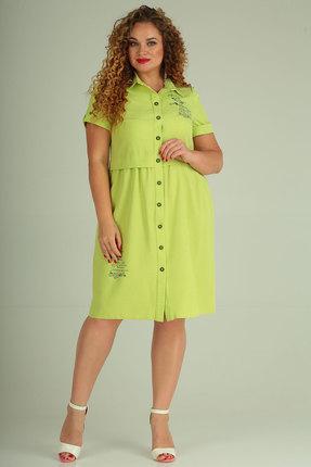 Платье SOVITA 638 салатовые тона