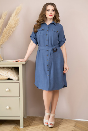 Платье ЮРС 20-359-2 синие тона