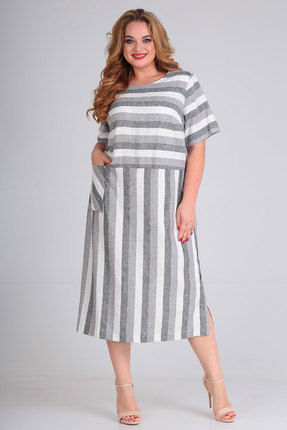 Платье Andrea Style 00264 серые тона