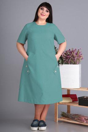 Платье Algranda 3498 темная бирюза фото