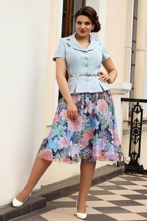 Комплект юбочный Мода-Юрс 2103 голубые тона