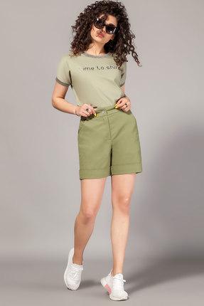 Комплект с шортами Сч@стье 7098 хаки фото