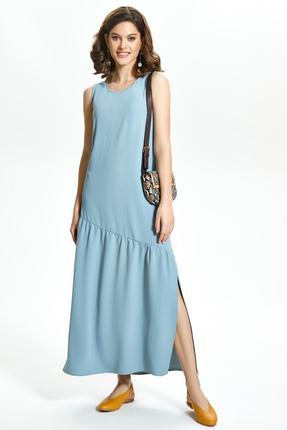 Платье TEZA 1361 голубые тона