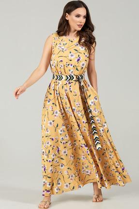 Платье Teffi style 1484 желтые тона фото