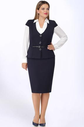 Комплект юбочный LeNata 31921 сине-белый фото
