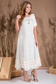 Платье Лилиана 728L молочно-белые тона