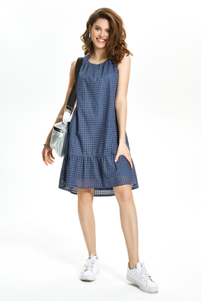 Платье TEZA 1365 синий
