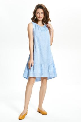Платье TEZA 1365 голубые тона