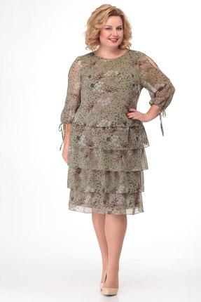 Платье KetisBel 1503 хаки