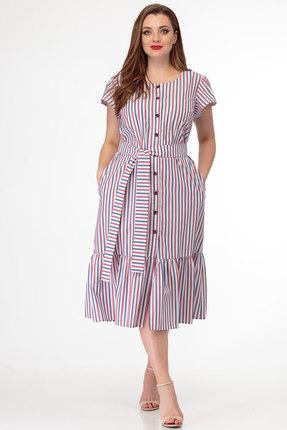 Платье Anelli 855 сине-бело-красный