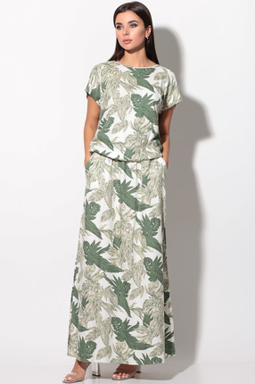 Платье LeNata 12130 зеленые тона