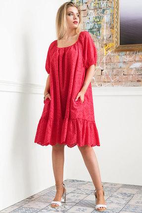 Платье Erika Style 1025-1 красный